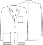 "Cherokee Uniforms 1389A **NEW** 31"" Men's Consultation Coat"