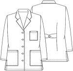 "Cherokee Uniforms 1462AB 32"" Lab Coat"