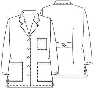 "Cherokee Uniforms 1462A 32"" Lab Coat"