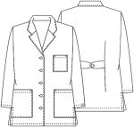 "Cherokee Uniforms 1462A 32"" Lab Coat"
