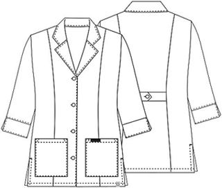 "Cherokee Uniforms 1470A 30"" 3/4 Sleeve Lab Coat"