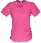 "Cherokee Uniforms 20976 ""Girls Love Pink"" V-Neck Top"