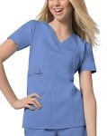 Cherokee Uniforms 21701 Jr. Fit Mock Wrap Top