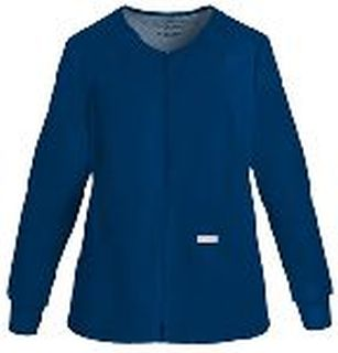 Cherokee Uniforms 2306 Zip Front Knit Panel Warm-Up Jacket
