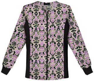 Cherokee Uniforms 2315C Zip Front Knit Panel Warm-Up Jacket