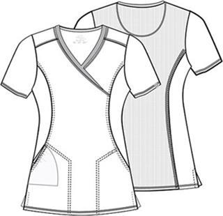 Cherokee Uniforms 2628A Mock Wrap Top