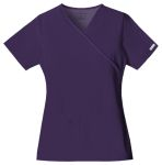 Cherokee Uniforms 2824 Mock Wrap Knit Panel Top