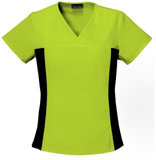 Cherokee Uniforms 2874 V-Neck Knit Panel Top