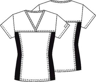 Cherokee Uniforms 2875V V-Neck Knit Panel Top