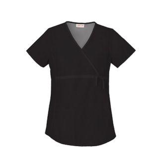 Cherokee Uniforms 2892 Maternity Mock Wrap Knit Panel Top