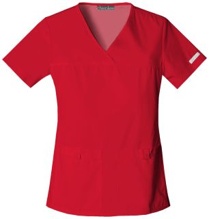 Cherokee Uniforms 2968 V-Neck Knit Panel Top