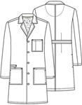 "Cherokee Uniforms 36400AB 38"" Unisex Lab Coat"