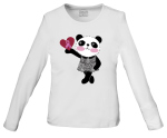"Cherokee Uniforms 4709 ""Little Miss Panda"" Long Sleeve Knit Tee"