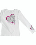 "Cherokee Uniforms 4819 ""Healing Heart"" Long Sleeve Knit Tee"