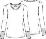 Cherokee Uniforms 4823 Long Sleeve Underscrub Knit Tee