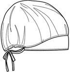 Cherokee Uniforms 80510V **NEW** Bouffant Scrub Hat