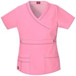 "Cherokee Uniforms 817355 ""Youtility"" Jr. Fit Mock Wrap Top"