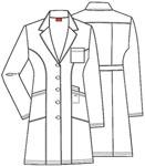 "Cherokee Uniforms 82401 37"" Lab Coat"