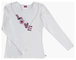 "Cherokee Uniforms 82706 ""Love"" Long Sleeve Crew Neck Knit Tee"