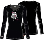 "Cherokee Uniforms 82739 ""Owl Steal Your Heart"" Knit Tee"