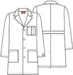 "Cherokee Uniforms 83402AB 37"" Unisex Lab Coat"
