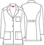 "Cherokee Uniforms 84400AB 32"" Lab Coat"
