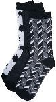 Cherokee Uniforms BLACKNWHITE 6 3-pr bundles of crew socks