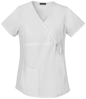 Cherokee Uniforms 2892 Maternity Mock Wrap Knit Panel Top