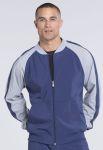Cherokee Uniforms CK330A Men's Colorblock Zip Up Warm-Up Jacket