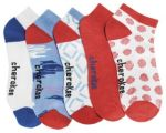 Cherokee Uniforms CORALMOTION 6-5pr packs of No Show Socks