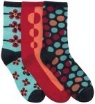 Cherokee Uniforms DOTMYFLOWER 1-3pr pack of Crew Socks