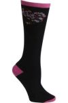 Cherokee Uniforms FLORALMYHEART 1pr Pink Ribbon Knee High Sock