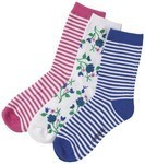 Cherokee Uniforms FLOWERFUN 1-3pr pack of Crew Socks