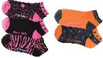 Cherokee Uniforms GIRLSLOVEPINK 1-5pr Pk of No Show Socks