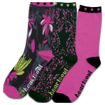 Cherokee Uniforms GOINGGOINGGLAM 1-3pr pack of Crew Socks