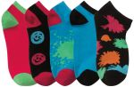 Cherokee Uniforms HAPPYPLACE 1-5pr pack of No Show Socks