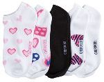 Cherokee Uniforms HEARTSGONEBAD 1 - 5pr bundle of No Show Socks