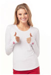 "Cherokee Uniforms HS607 ""Heart To Heart"" Underscrub Knit Tee"