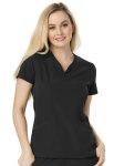 "Cherokee Uniforms HS650 ""Heart Zips A Beat"" V-Neck Top"