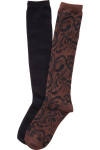 Cherokee Uniforms LETSSWIRL **NEW** 2pk Knee High Socks