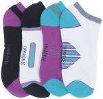 Cherokee Uniforms MAKEAMOVE 1-4pr packs of No Show Socks Assorted