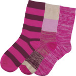 Cherokee Uniforms PLENTYOFPINK 1-3pr pack of Crew Socks