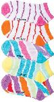 Cherokee Uniforms STRIPEHYPE **NEW** 6-5pr packs of No Show Socks