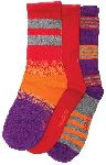 Cherokee Uniforms SUNFIRE 1-3pr pack of Ribbed Crew Socks