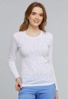 27021fd51df Cherokee Uniforms TF662 Long Sleeve Underscrub Knit Tee. Loading zoom