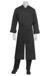 Chef Works A400 Split Bistro Apron Black