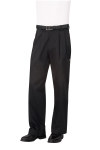 Chef Works CEBP Black Basic Chef Pants