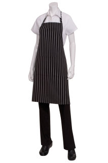 Chef Works CSBA Chalk Stripe Bib Apron