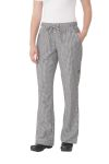 Chef Works WBAW, Women's Small Check Chef Pants