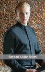 Banded-Collar Shirts